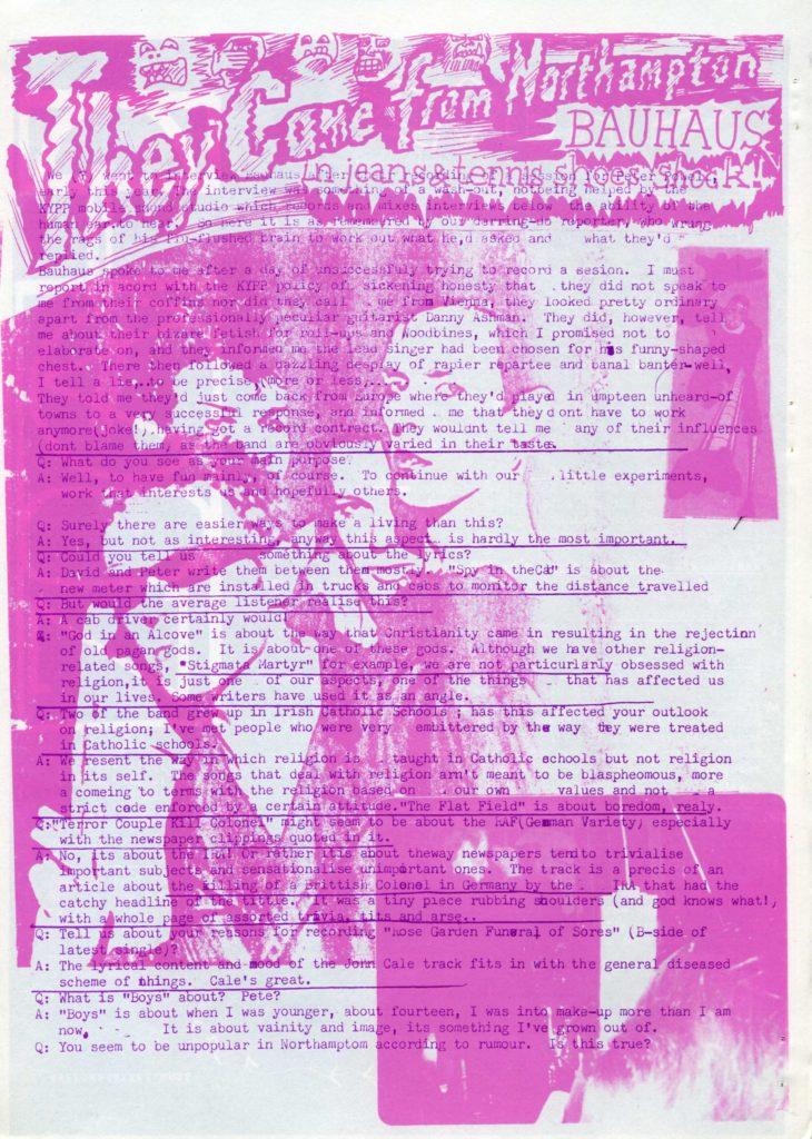 Bauhaus: An essay by Al Puppy TEXT ORIGINALLY WRITTEN BY AL